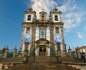 Porto: Church of Santo Ildefonso with tiles , azulejos