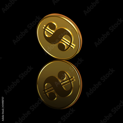 gold coins black background - photo #24