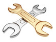 Wrench tool. 3D illustration isolated on a white