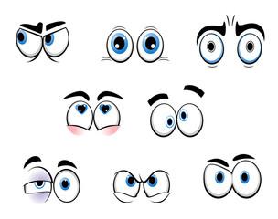 Cartoon funny eyes