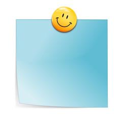 Notizzettel blau