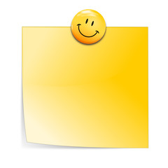 Notizzetel mit Smiley Magnet