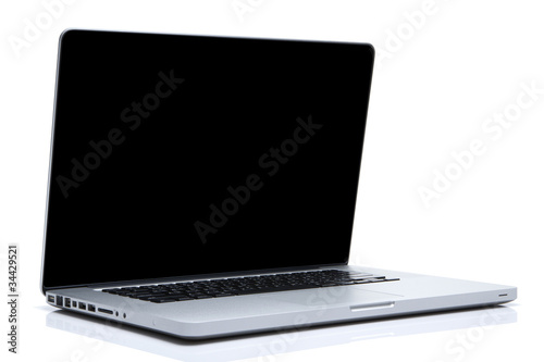 Laptop on isolated white