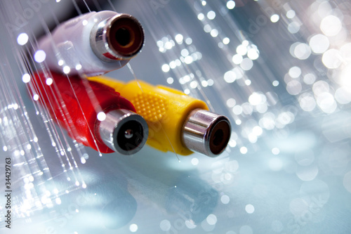 spinotti rca con fibre ottiche