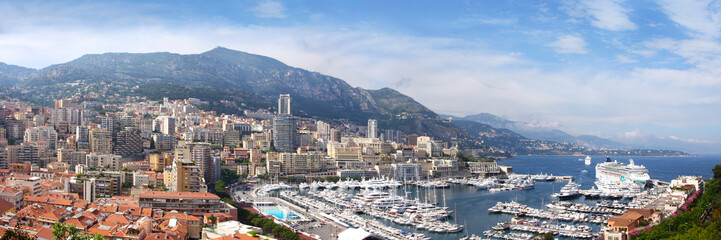 Azure coast of France, the state Monaco, capital Monte-Carlo