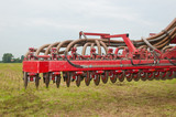 Closeup of a used manure injector (front)