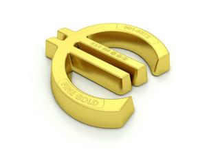 Gold bullion Euro symbol