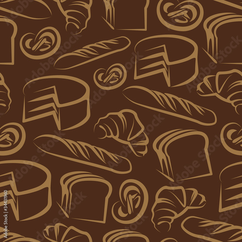 Seamless background  with baking items