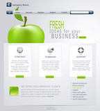 Vector Grey-green website with apple
