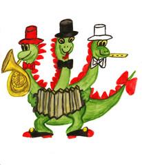 Three-head dragon