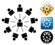 Social network pictogram and signs