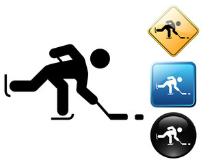 Ice hockey pictogram and signs
