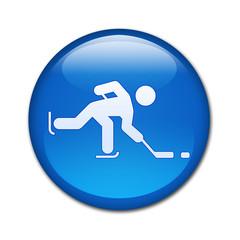 Boton brillante hockey sobre hielo