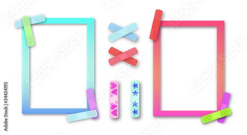 Colorful kids' band-aid borders for pediatrician or nurse
