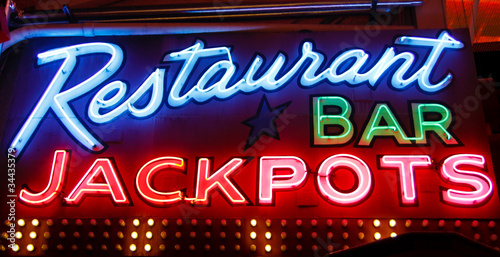 Restaurant Bar Jackpot Neon Sign