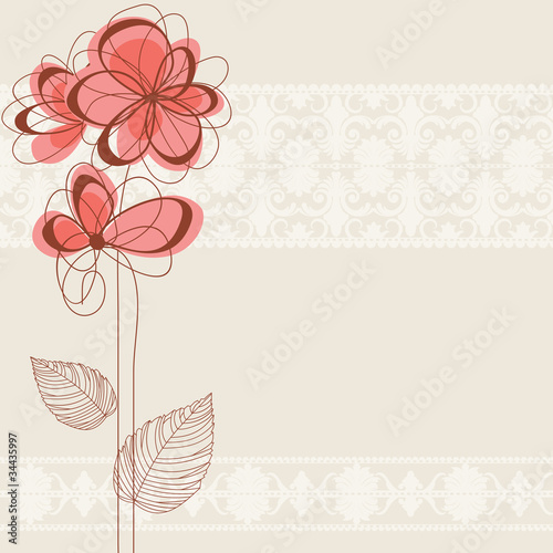 Cute floral background