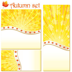 Set of autumn banners and backgrounds, vector