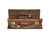 Brown leather cases