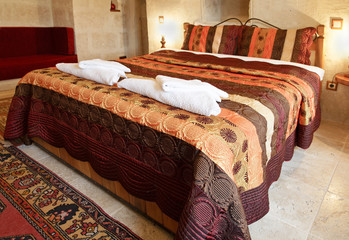 interior design large bed comfy sofa