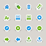Papercut - Website and Internet Icons poster