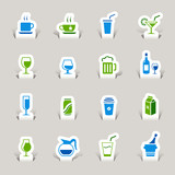 Papercut - Drink Icons poster