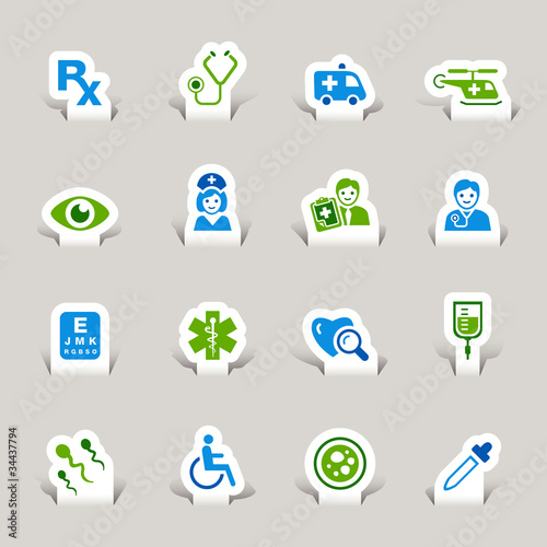 Papercut - Medical icons