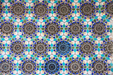 blue mosaic pattern from Central Asia poster
