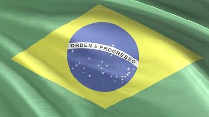 Nahtlos wiederholende Flagge Brasilien