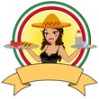 Symbol für mexikanische Gaststätte