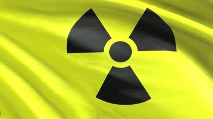 Nahtlos wiederholende Flagge Radioaktiv