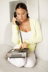 verliebt am Telefon