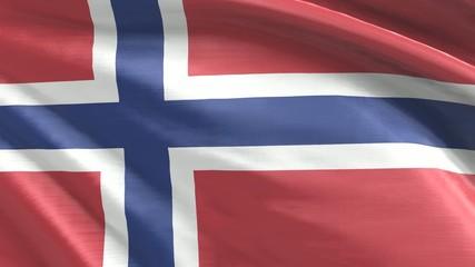 Nahtlos wiederholende Flagge Norwegen