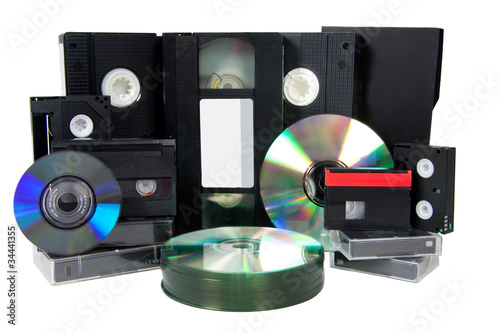 media storage video cassette tapes evolution cd vhs dv