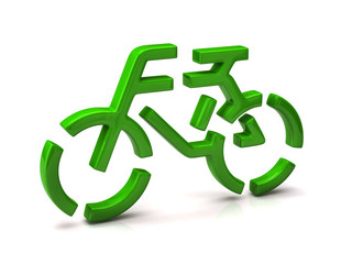 Green Bicycle icon