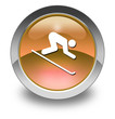 "Orange Glossy Pictogram ""Downhill Skiing"""