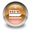 "Orange Glossy Pictogram ""Boat Tour"""