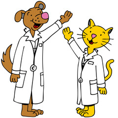 Pet Doctors Arms Raised