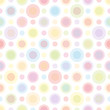 Seamless Pattern Double Pastel Coloured Circles