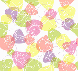 Colorful seamless pattern. Background with geometric figures