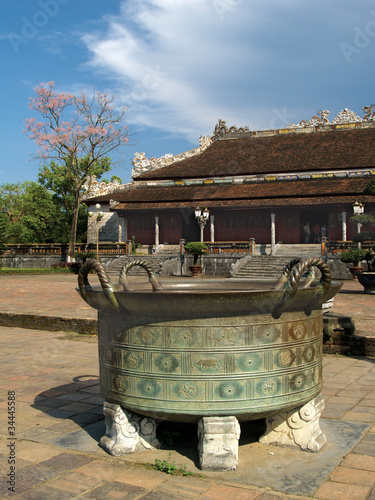 Bronze Pot at Hue Royal Palace