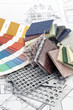 palette of colors designs for interior works
