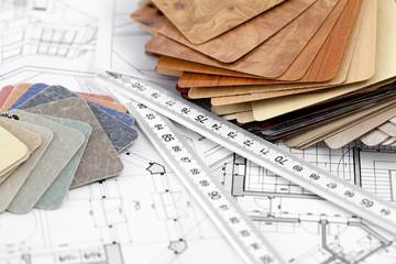 color samples of architectural materials - plastics,  Metric Fol