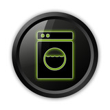 "Black Icon (Green Outlines) ""Laundromat"""
