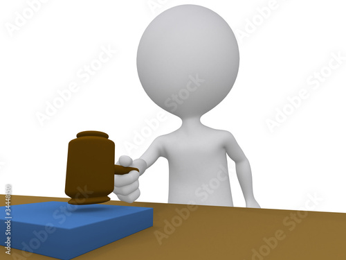 3d judge holding using his gavel