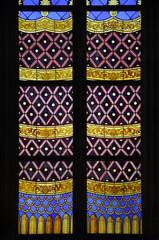 Glasfenster Teppichmuster