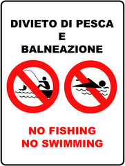 Divieto di pesca e balneazione