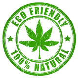 Cannabis eco friendly stamp
