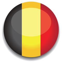 belgium flag in a button