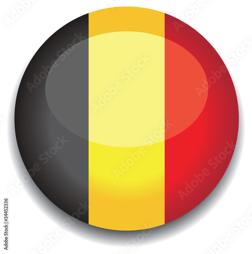 belgium flag in a button