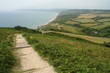footpath above Charmouth on Jurassic Coast